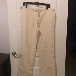 Pants - Women's Med cream 55% Ramie/45% Rayon pants